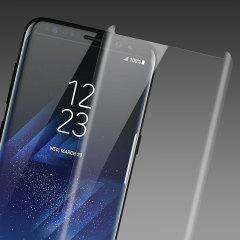 Olixar Samsung Galaxy S8 Case Compatible Glazen Screen Protector: Doorzichtig