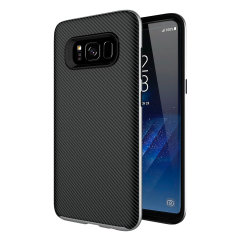 Olixar X-Duo Samsung Galaxy S8 Hülle in Carbon Fibre Silber