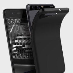 Olixar FlexiShield Huawei P10 Plus Gel Hülle in Solid Schwarz