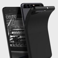 Olixar FlexiShield Huawei P10 Plus Gel Hülle in Solid Schwarz