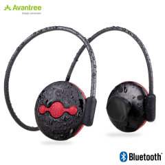 Listen to music and take calls on the go with the Jogger Plus Bluetooth headphones in black and red from Avantree. Lightweight, long-lasting and boasting great EQ response, these wireless headphones will be your constant companion.