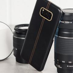 Olixar Premium Genuine Leather Samsung Galaxy S8 Case - Black