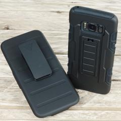 Olixar X-Tome Leder-Stil Samsung Galaxy S8 Hülle – Braun