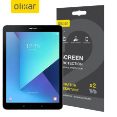 Keep your Samsung Galaxy Tab S3's screen in pristine condition with this Olixar scratch-resistant screen protector 2-in-1 pack. Ultra responsive and easy to apply, these screen protectors are the ideal way to keep your display looking brand new.