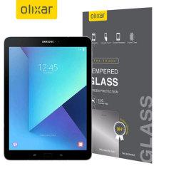 Este protector de pantalla fabricado por Olixar con cristal templado de alta calidad le ayudará a mantener la pantalla de su Samsung Galaxy Tab S3 en perfectas condiciones.