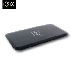 Enjoy the cable-free convenience of wireless charging on the move for your compatible smartphone with this compact, lightweight Qi wireless pad from KSIX.