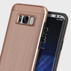 Obliq Slim Meta Chain Samsung Galaxy S8 Case - Rose Gold