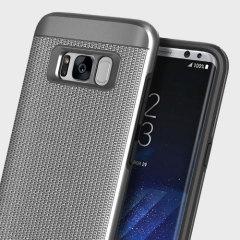 Obliq Slim Meta Samsung Galaxy S8 Case - Titanium Zilver