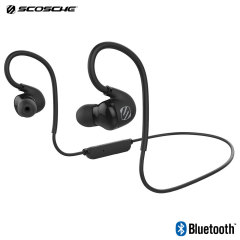 Scosche SportFlex Air Wireless Bluetooth Fitness Earphones - Black