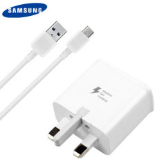 A genuine Samsung UK adaptive fast mains charger for your USB-C Samsung smartphone. Also includes a 1m USB-C cable which can be used to charge or sync data to your device.