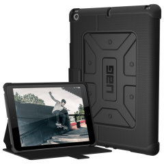 "Equip your iPad 2017 (9.7"") with extreme, military-grade protection and storage for cards with the Metropolis Rugged Wallet case in black from UAG. Impact and water resistant, this is the ideal way of protecting your iPad."