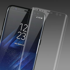 Olixar Full Cover Tempered Glas Samsung Galaxy S8 Plus Displayschutz - Klar