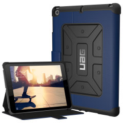 "Equip your iPad 2017 (9.7"") with extreme, military-grade protection and storage for cards with the Metropolis Rugged Wallet case in cobalt blue from UAG. Impact and water resistant, this is the ideal way of protecting your iPad."