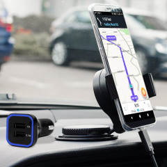 Essential items you need for your smartphone during a car journey all within the Olixar DriveTime In-Car Pack. Featuring a robust one-handed phone car mount and car charger with an additional USB port for your Samsung Galaxy S8 Plus.