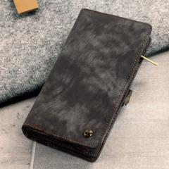 Luxury Samsung Galaxy S8 Leder-Stil 3-in-1 Brieftaschen Hülle - Schwarz
