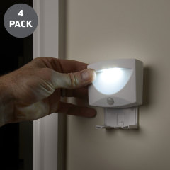 AGL Wireless LED PIR Motion Sensor handliche Lampe Nachtlicht - 4er-Pack