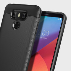 The Obliq Flex Pro Shell Case in black is a stylish and ergonomic protective case for the LG G6, providing impact absorption and fantastic grip due to the textured surface.