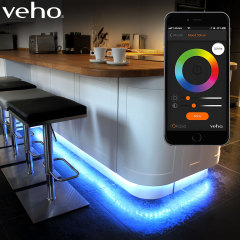 This app-controlled smart lighting strip from Veho will transform the ambience of any room. With 16 million colours, intelligent scheduling and an intuitive free companion app, this strip will light up your home - and your life. Mains powered.