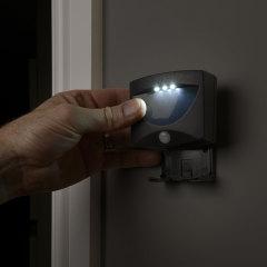 AGL Wireless LED PIR Motion Sensor handliche Lampe Nachtlicht - Schwarz
