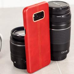 Olixar Premium Echt Leren Samsung Galaxy S8 Case - Rood