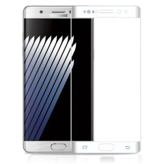 Zizo Full Body Galaxy Note 7 Tempered Glas Displayschutz - Weiß