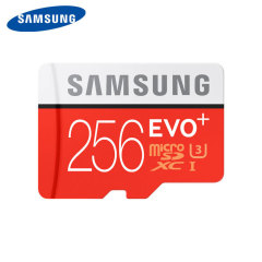 Great for recording 4K UHD video, this Samsung Grade U3 256GB Micro SDXC memory card features impressive read / write speeds for retaining detail in photos, videos and more. Securely and safely store files, documents, media and anything else you need.