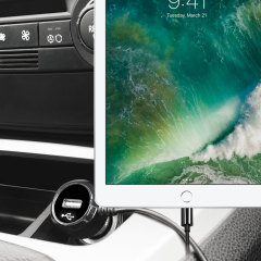 Keep your Apple iPad 2017 fully charged on the road with this high power 2.4A Car Charger, featuring extendable spiral cord design. As an added bonus, you can charge an additional USB device from the built-in USB port!