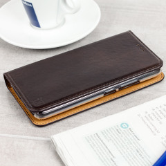 A premium slimline brown genuine leather case. The Olixar genuine leather executive wallet case offers perfect protection for your Motorola Moto G5 Plus, as well as featuring a smart magnetic media stand and slots for your cards, cash and documents.