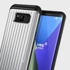 VRS Design Thor Waved Samsung Galaxy S8 Plus Wallet Case Tasche in Satin Silber