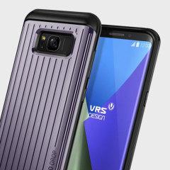 VRS Design Thor Waved Samsung Galaxy S8 Plus Wallet Case Tasche in Orchid Grau