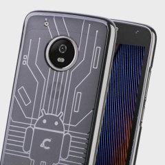 Cruzerlite Bugdroid Circuit Motorola Moto G5 Plus Case - Clear