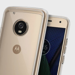 Protect the back and sides of your sleek Motorola Moto G5 Plus with this incredibly durable clear backed Fusion Case by Rearth Ringke.