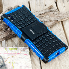 Protect your Sony Xperia XA1 from bumps and scrapes with this blue ArmourDillo case. Comprised of an inner TPU case and an outer impact-resistant exoskeleton, with a built-in viewing stand.