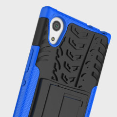 Protect your Sony Xperia L1 from bumps and scrapes with this blue ArmourDillo case. Comprised of an inner TPU case and an outer impact-resistant exoskeleton, with a built-in viewing stand.