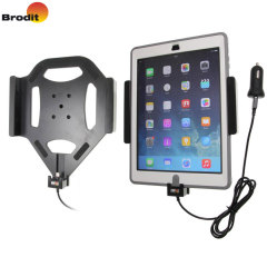 Charge and use your iPad 2017 in your vehicle with this Brodit active holder with tilt swivel. Conveniently docking your phone, the Brodit Active Holder allows you to use heavy battery consuming apps while you drive.