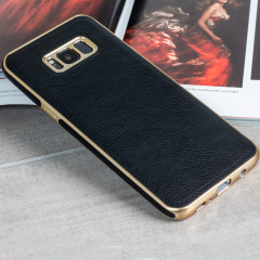 Olixar Makamae Leather-Style Samsung Galaxy S8 Case - Black