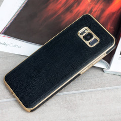 Olixar Makamae Lederlook Samsung Galaxy S8 Plus Case - Zwart