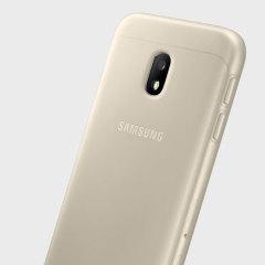 Tettsittende og legger nesten ikke til noe ekstra vekt, dette offisielle Samsung jelly dekselet for Samsung Galaxy J3 2017 tilbyr beskyttelse uten å ofre form.
