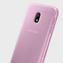 Slim-fitting and adding virtually no extra bulk, this official Samsung pink jelly case for the Galaxy J3 2017 offers protection without sacrificing form.