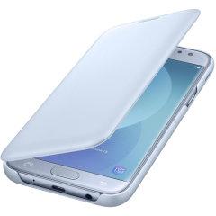 Original Samsung Galaxy J5 2017 Tasche Flip Wallet Cover in Blau