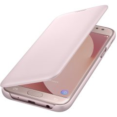 Original Samsung Galaxy J5 2017 Tasche Flip Wallet Cover in Rosa