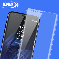 Kahu Samsung Galaxy S8 Curved Glass Screen Protector - 100% Clear