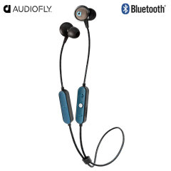 Listen to music and take calls on the go with the AF56W Bluetooth headphones in black and blue from Audiofly. Lightweight, long-lasting and boasting great EQ response, these wireless headphones will be your constant companion.