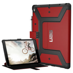 The UAG Cobalt Rugged Folio Case in red keeps your iPad Pro 10.5 protected with a lightweight, but highly protective honeycomb composite interior, with a tougher outer case, ensuring the perfect combination of style and security.
