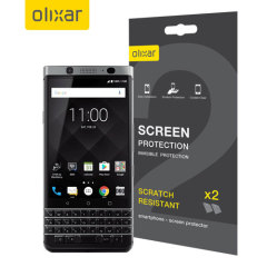 Keep your BlackBerry KeyONE screen in pristine condition with this Olixar scratch-resistant screen protector 2-in-1 pack.