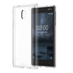 Official Nokia 3 Slim Crystal Silicone Gel Case - Clear