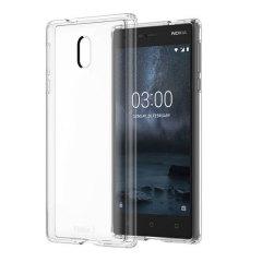 Proteja su Nokia 3 de los golpes, raspaduras y caídas de la vida cotidiana con esta funda oficial de silicona transparente. Esta funda no agrega virtualmente ningún volumen a su dispositivo, dejando el Nokia 3 tan liso y delgado como en el primer día.