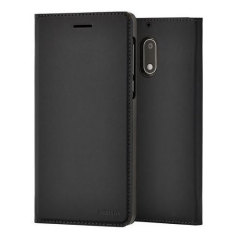 Protect your Nokia 5's back, sides and screen from harm while keeping your most vital card close to hand with the official flip wallet cover in black from Nokia.