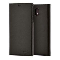 Official Nokia 3 Slim Flip Wallet Case - Black