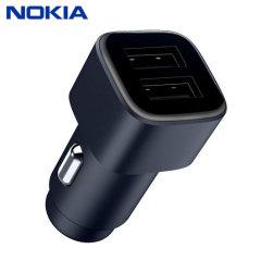 Un auténtico cargador de coche Nokia para su teléfono inteligente Nokia (o cualquier teléfono inteligente que cargue a través de USB). Increíblemente elegante y rápido, este cargador es imprescindible, gracias a su diseño elegante y tarifas de carga súper rápidas.
